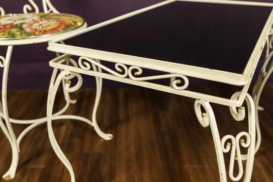 Antique wrought iron furniture set - photo 5