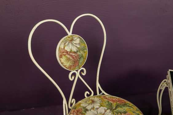 Antique wrought iron furniture set - photo 7