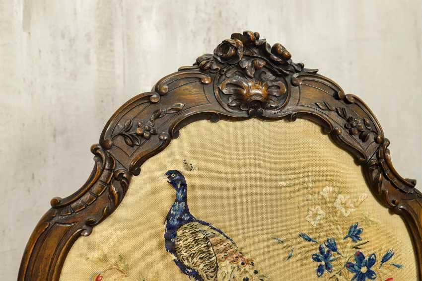 Antique fireplace screen - photo 8