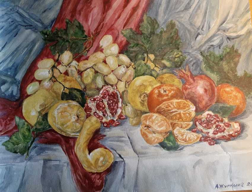 "Alexandra Zhurkina. Aquarelle de l'auteur ""Fruits"". - photo 1"