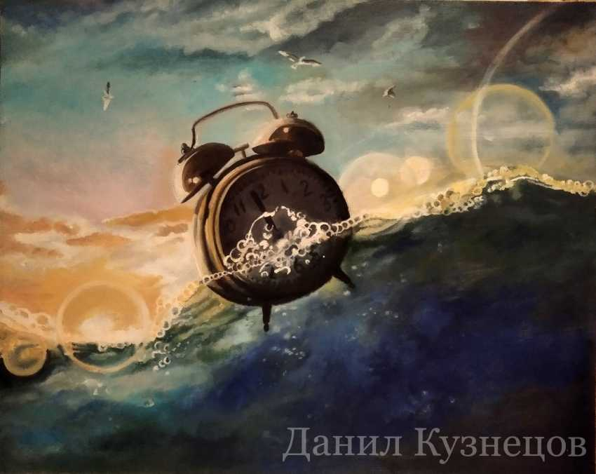 "Danil Kuznetsov. Oil painting ""Dissolve in time"" - photo 1"