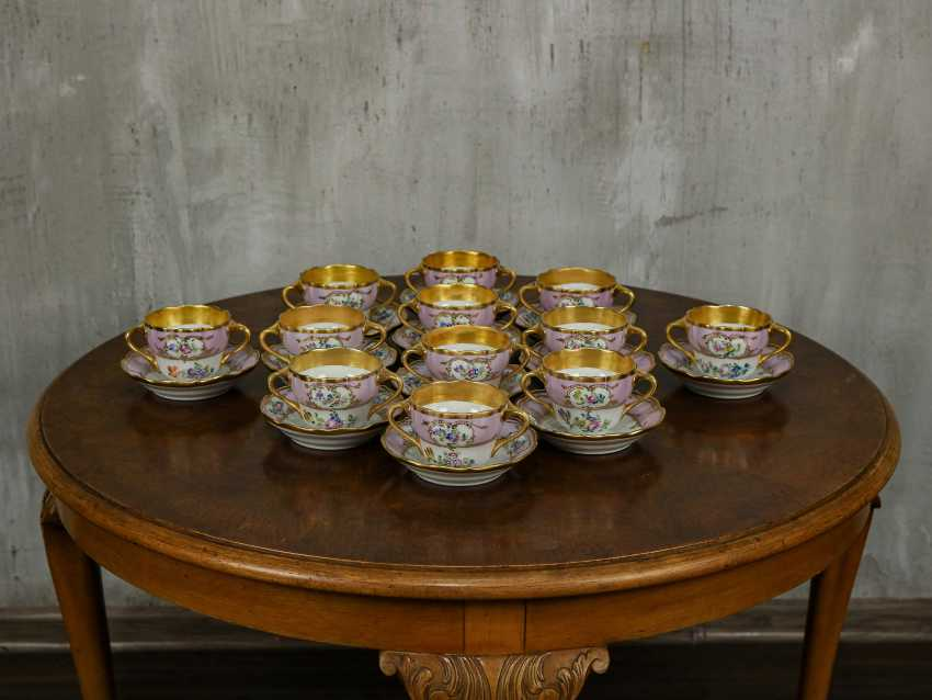 Antique set of 6 soup cups - photo 1