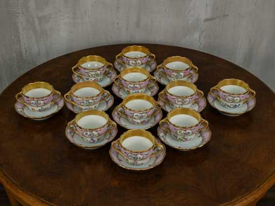Antique set of 6 soup cups - photo 2