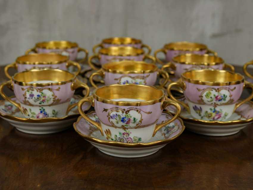 Antique set of 6 soup cups - photo 3