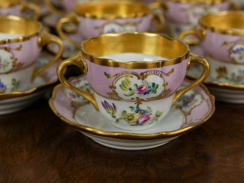 Antique set of 6 soup cups - photo 4