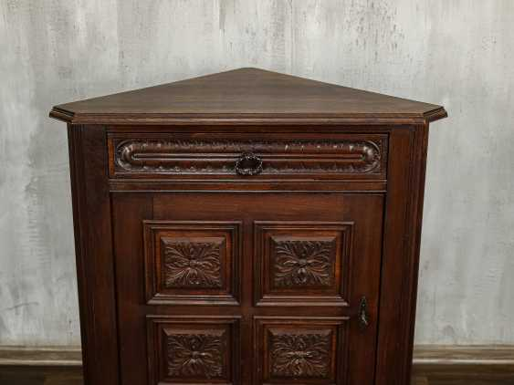 Antique Oak Corner Cabinet - photo 3