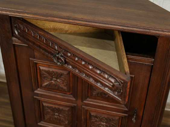 Antique Oak Corner Cabinet - photo 5