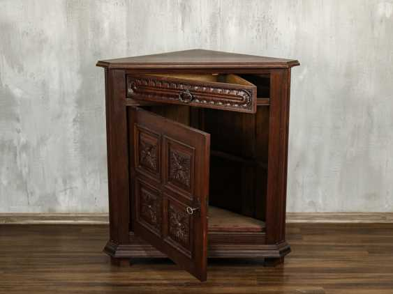 Antique Oak Corner Cabinet - photo 6