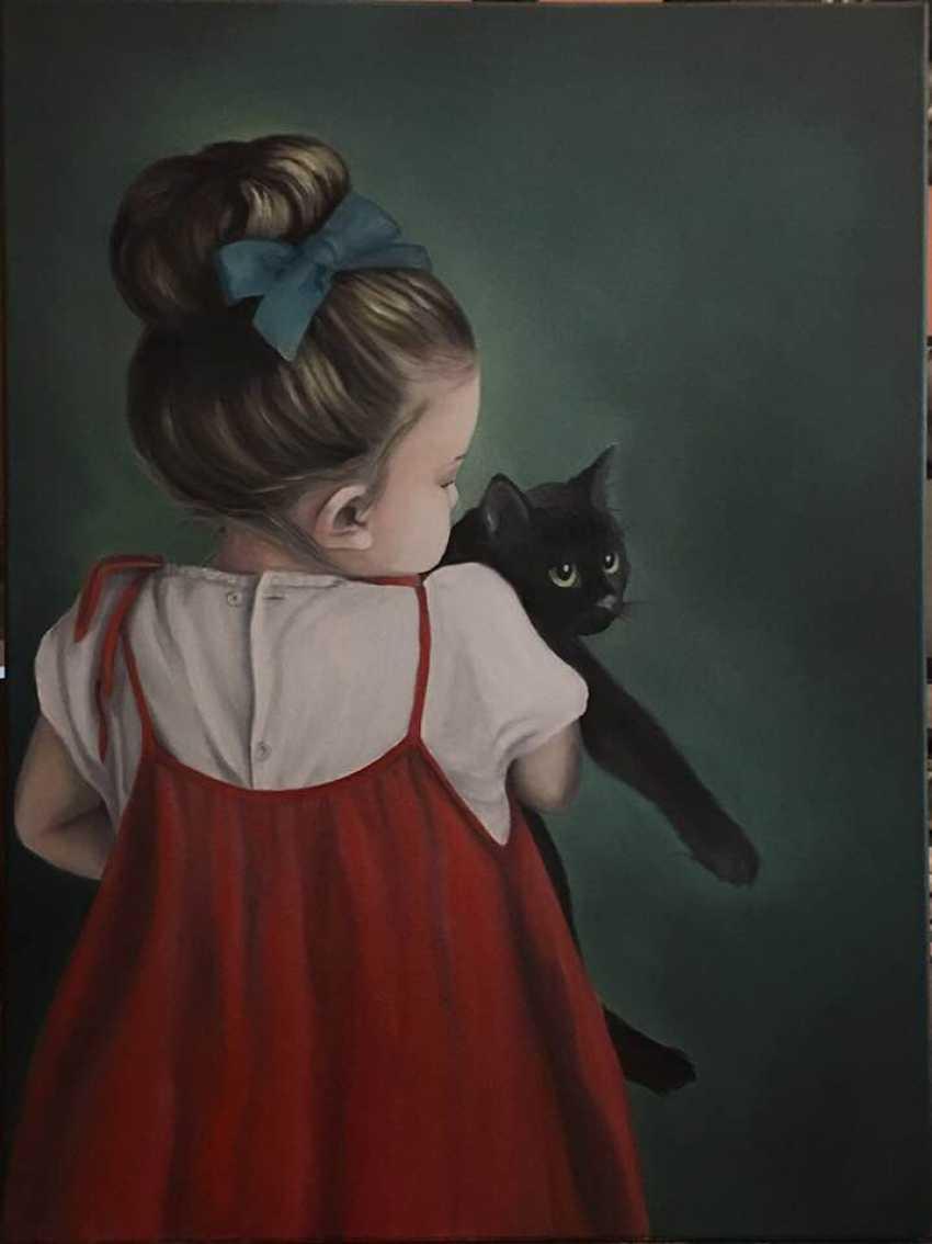 Tatjana Jansberga. Girl in a red sundress - photo 1