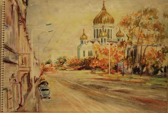 Alexandra Zhurkina. View of the Church of Christ the Savior - photo 1