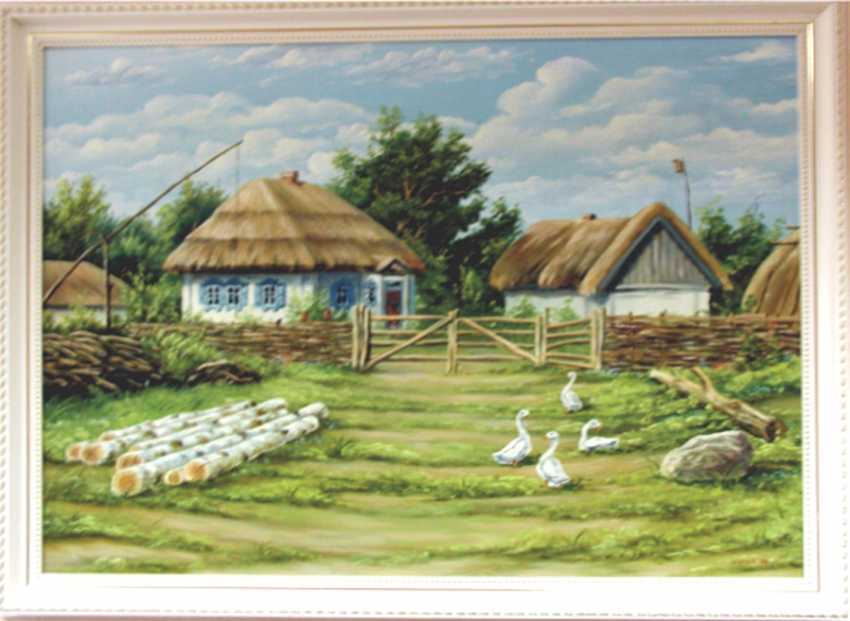 viktor shutka. painting SUMMER IN THE VILLAGE - photo 1