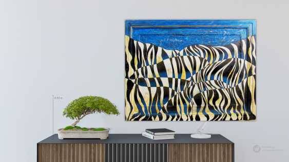 Sergiy Roy. Blue zebra on a blue background - photo 3