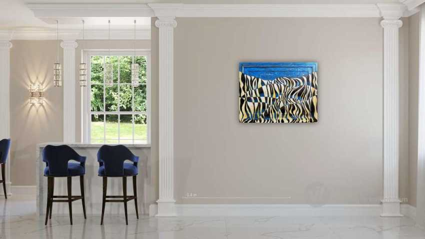 Sergiy Roy. Blue zebra on a blue background - photo 4