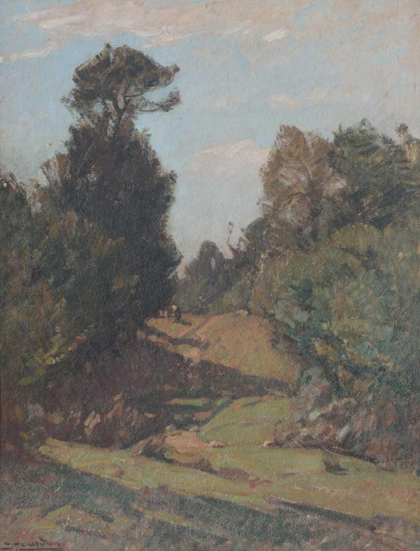 Landscape with Figures by Louis Jourdan - photo 1