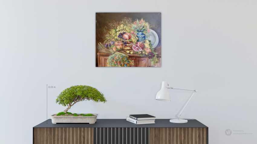"Alexandra Zhurkina. Author's painting ""Still life with fruit"" - photo 2"