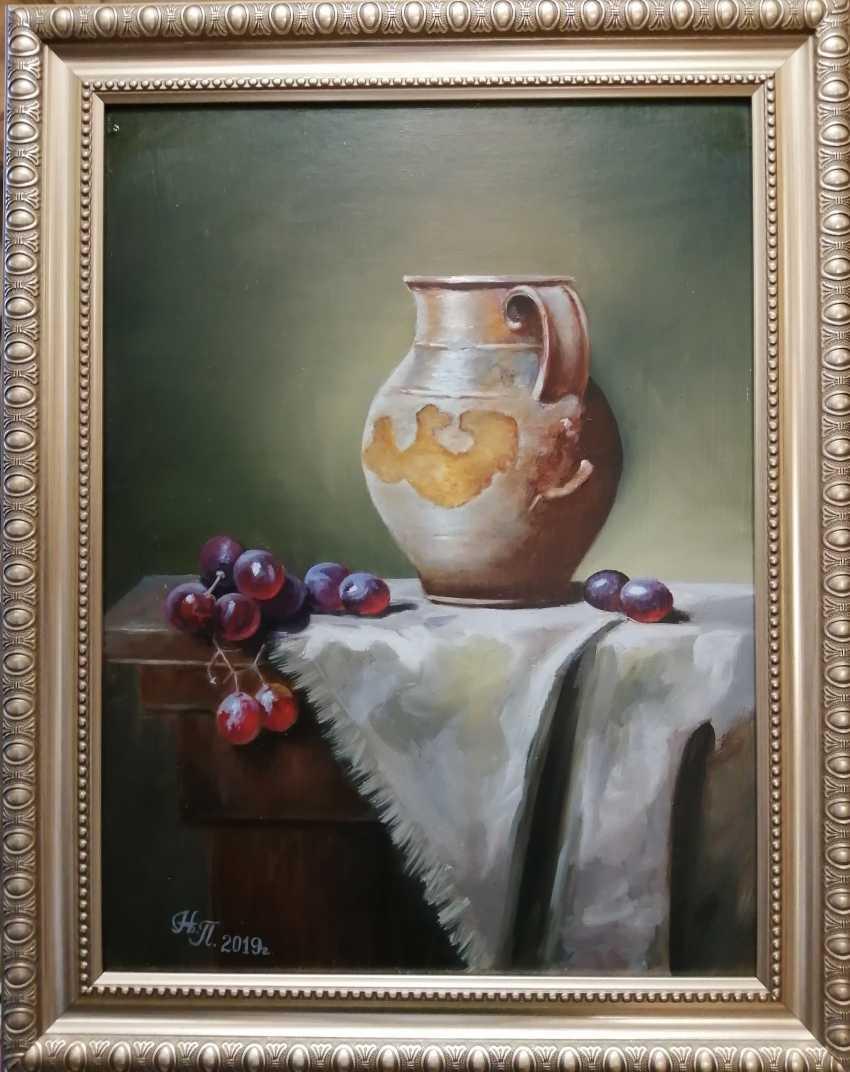 """Natalya Parshina. """"Still life with a jug and grapes"""" - photo 1"""