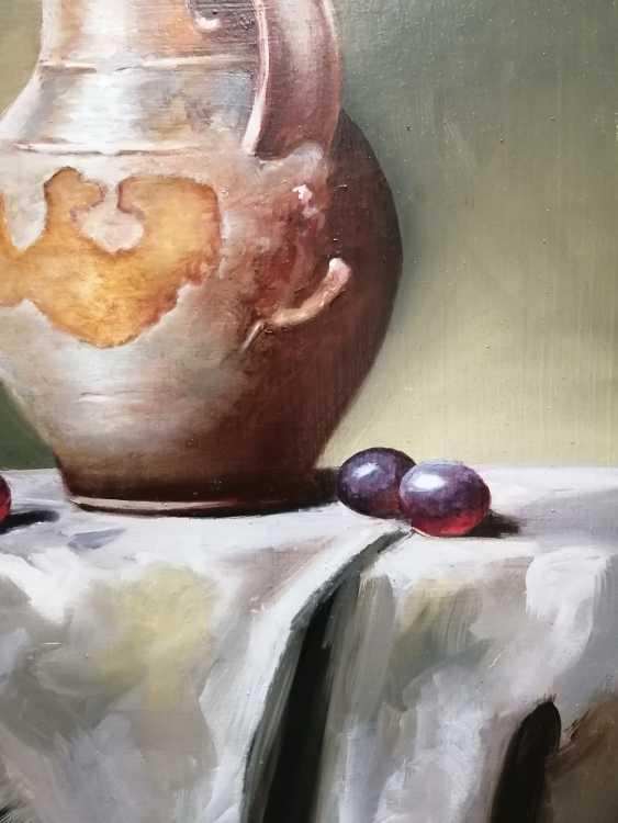 """Natalya Parshina. """"Still life with a jug and grapes"""" - photo 3"""