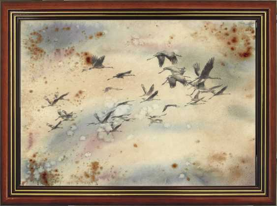 Natasha Mishareva. Oh, wild geese were flying. Drawing, handmade, 2020 Author - Mishareva Natalia - photo 2
