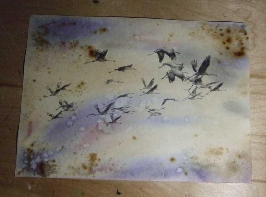 Natasha Mishareva. Oh, wild geese were flying. Drawing, handmade, 2020 Author - Mishareva Natalia - photo 3