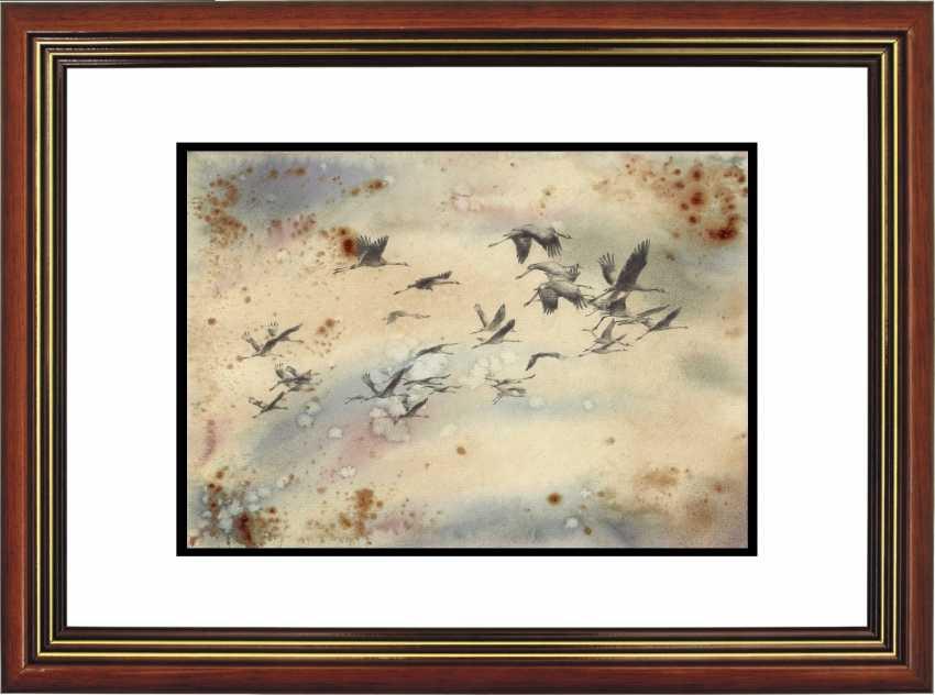 Natasha Mishareva. Oh, wild geese were flying. Drawing, handmade, 2020 Author - Mishareva Natalia - photo 4