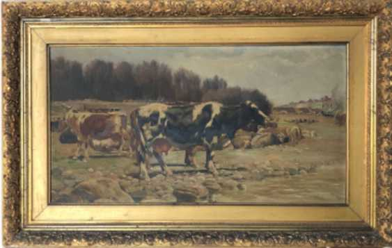 Oil Landscape with cows in a Naturalist style by Ramon Mestre Vidal - photo 2