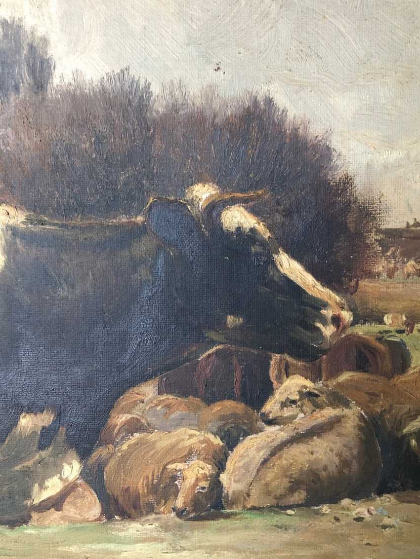 Oil Landscape with cows in a Naturalist style by Ramon Mestre Vidal - photo 9
