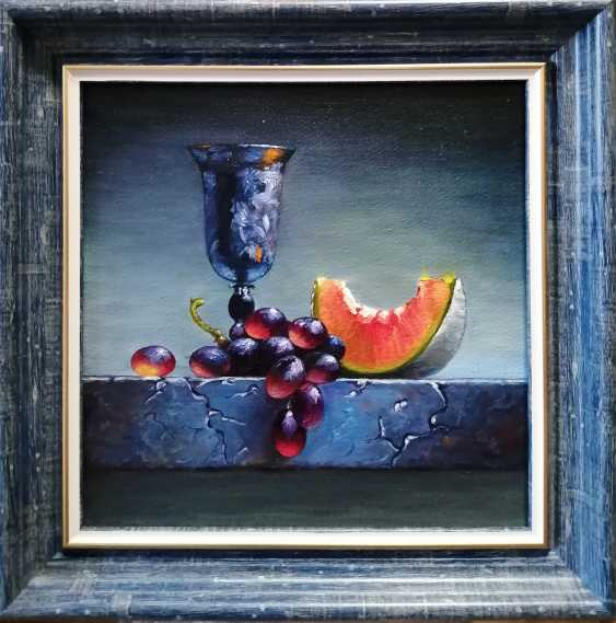 """Natalya Parshina. """"Натюрморт с кубком и виноградом"""".(""""Still life with a Cup and grapes"""") - photo 2"""