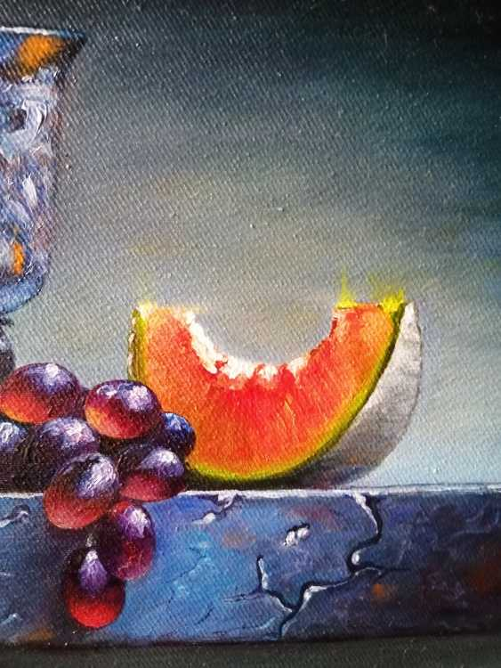 """Natalya Parshina. """"Натюрморт с кубком и виноградом"""".(""""Still life with a Cup and grapes"""") - photo 3"""