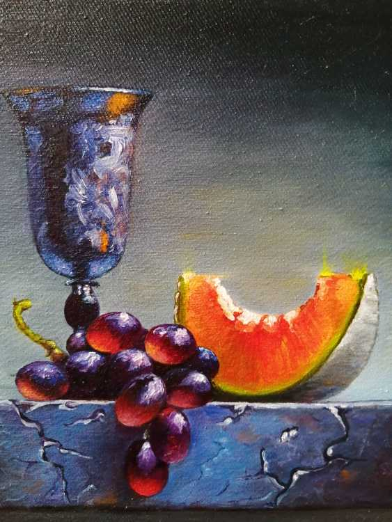 """Natalya Parshina. """"Натюрморт с кубком и виноградом"""".(""""Still life with a Cup and grapes"""") - photo 4"""