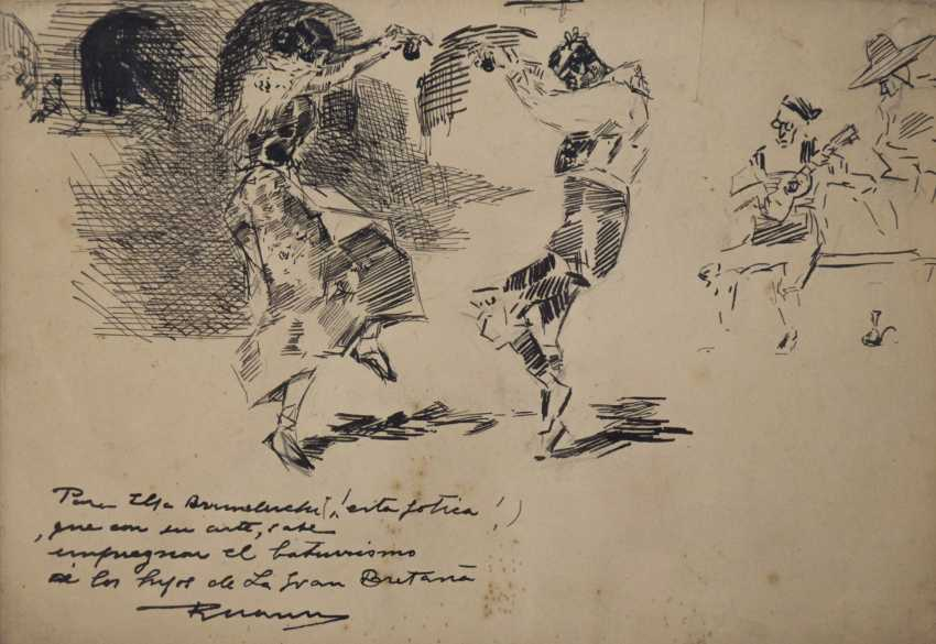 Drawing of Spanish Dancers - photo 1