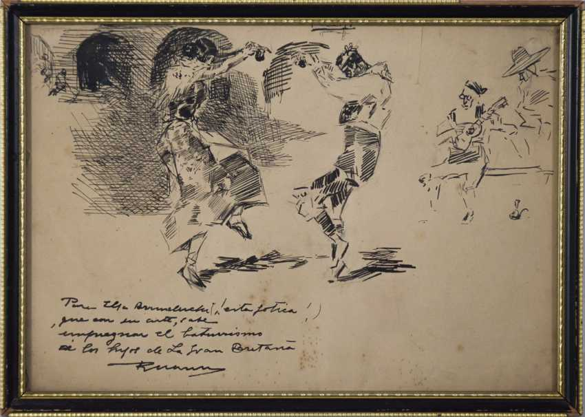 Drawing of Spanish Dancers - photo 2