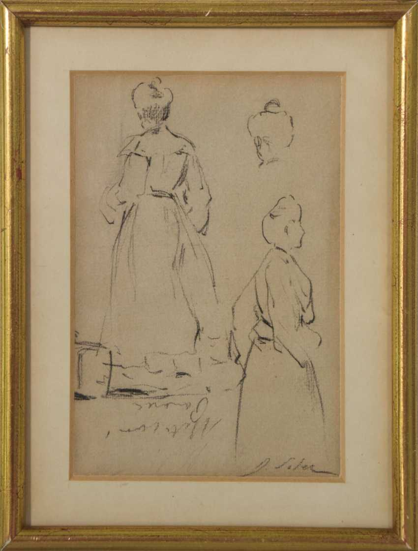 Double-sided sketches of Fin de siècle Ladies - photo 2