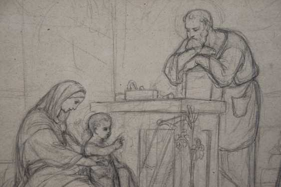 Pre-Raphaelite Drawing of the Holy Family - photo 3
