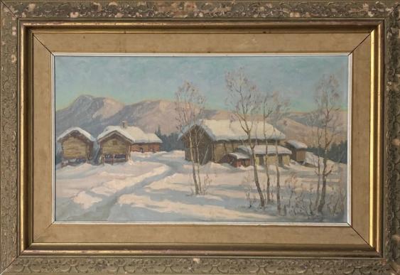Post Impressionist German Snowscape With Soft Golden Light - photo 2