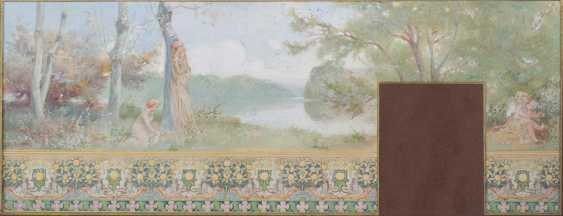 Nabis-style Watercolour Study for Wall Frieze - photo 1