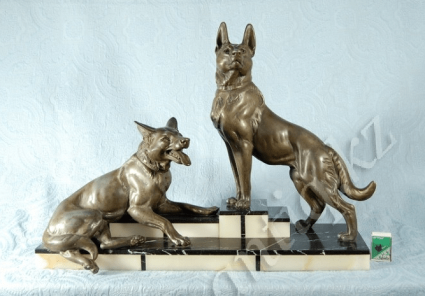 "Art Deco ""Dog""L. Carvin. - photo 1"