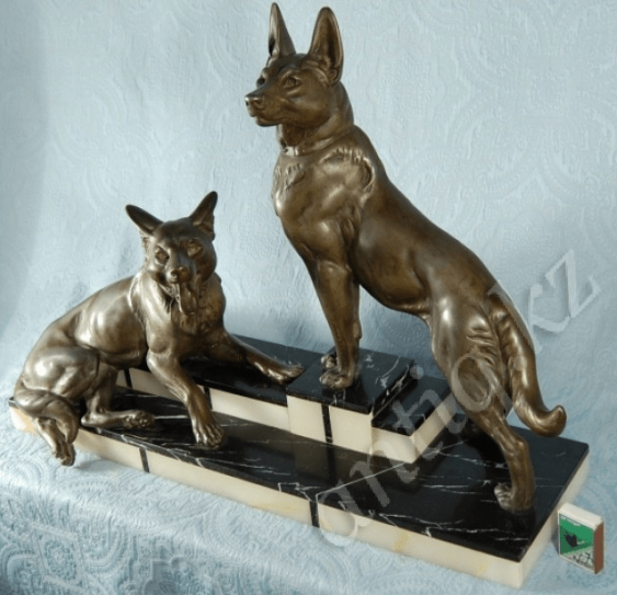 "Art Deco ""Dog""L. Carvin. - photo 2"