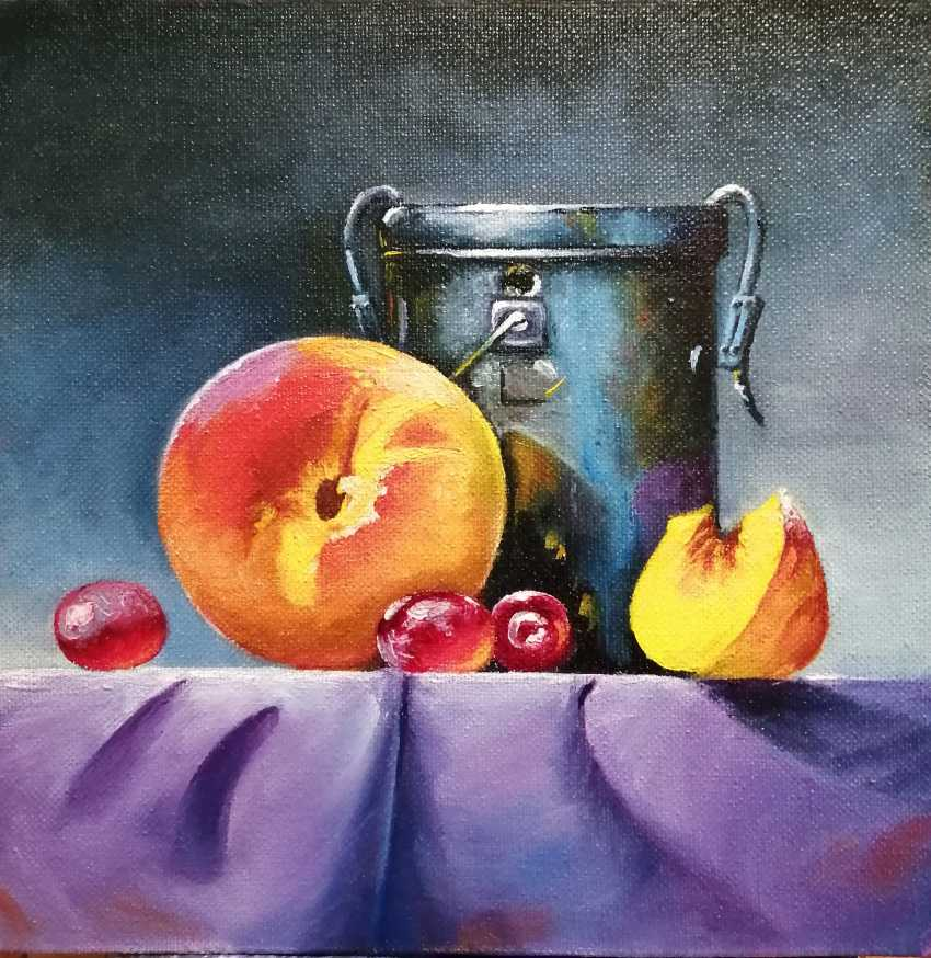 "Natalya Parshina. ""Still life with a peach and a tin can"" - photo 2"
