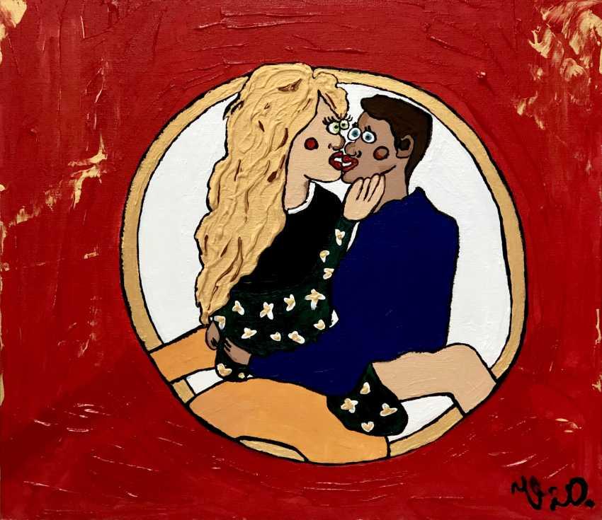 """Viktoriia Orlova. Acrylic painting """"Lovers"""" - photo 1"""
