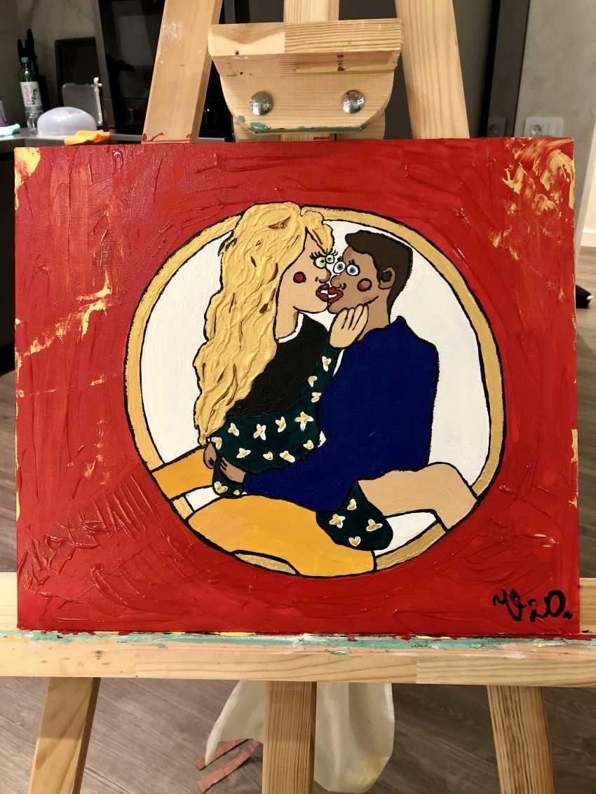 """Viktoriia Orlova. Acrylic painting """"Lovers"""" - photo 3"""