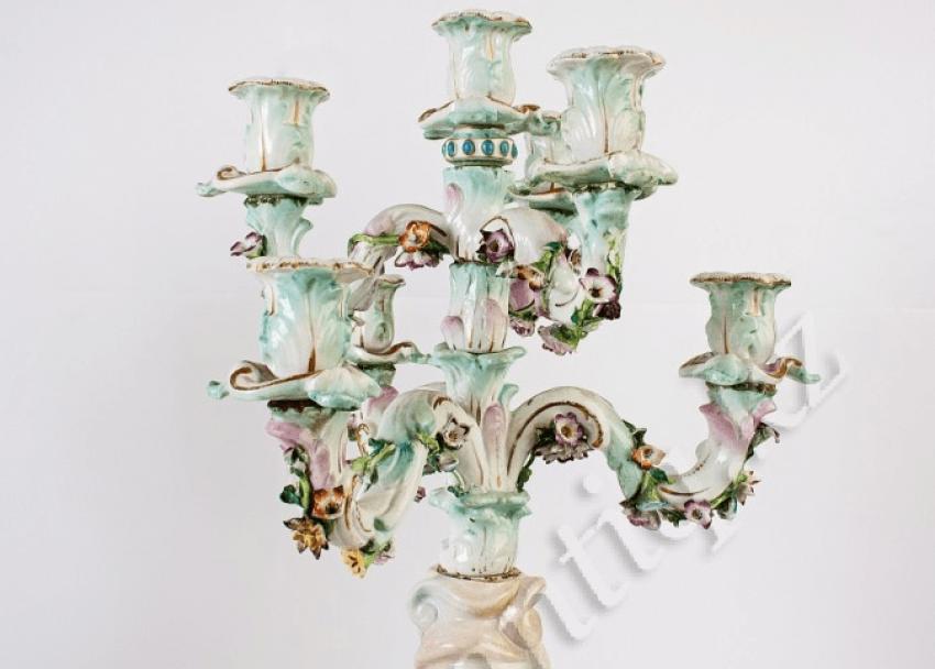 porcelaine de candélabres XIXE-XXE siècle - photo 2