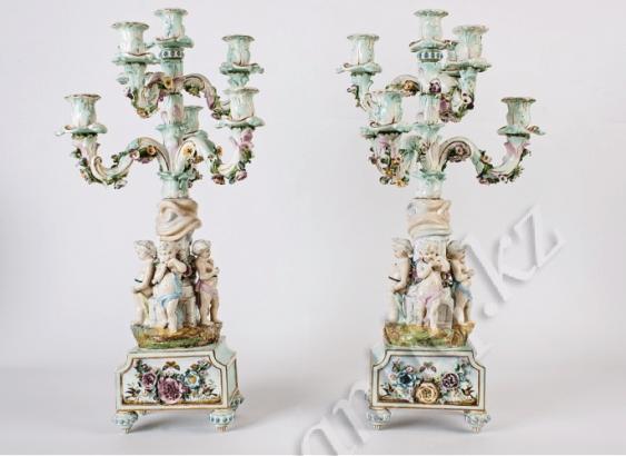 porcelaine de candélabres XIXE-XXE siècle - photo 1
