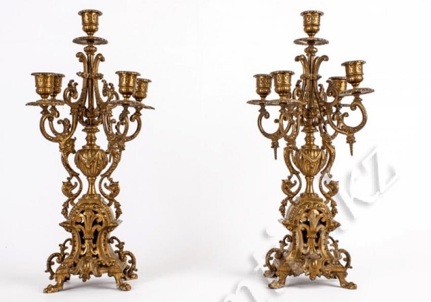 Bronze clock garnitur - photo 2