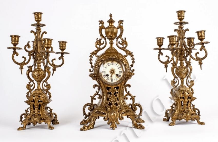 Bronze clock garnitur - photo 1