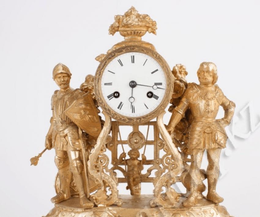 Mantel clock with rare movement. - photo 2