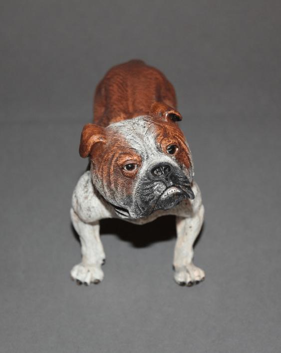 "The statuette ""Bulldog""Vienna, Austria, end of XIX century, bronze, - photo 1"