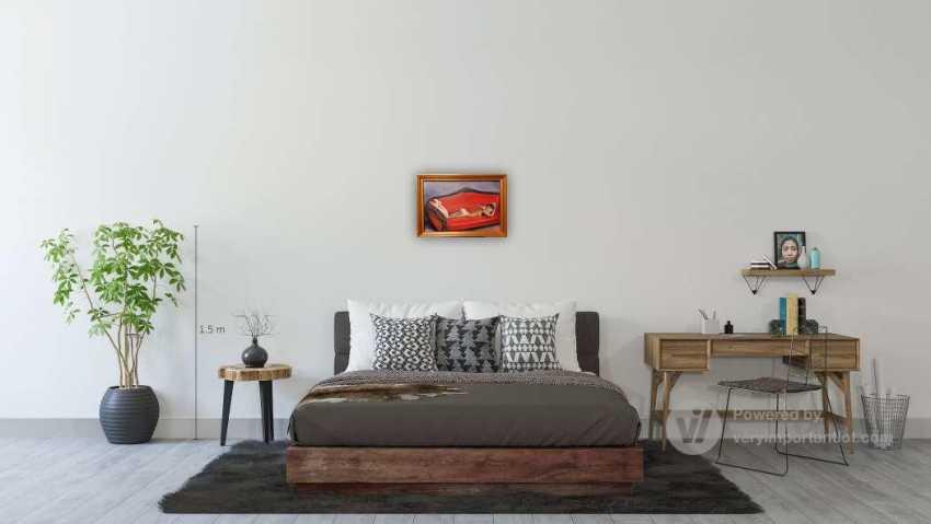"Victor Demchuchen. Oil painting ""Lying on the sofa"" 40x60 cm., 2020 yr. - photo 4"
