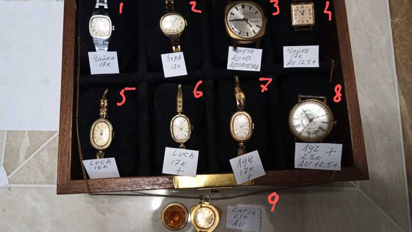 Wrist watches for women and men, watch-pendant - photo 1