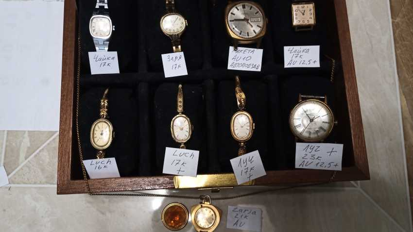 Wrist watches for women and men, watch-pendant - photo 2
