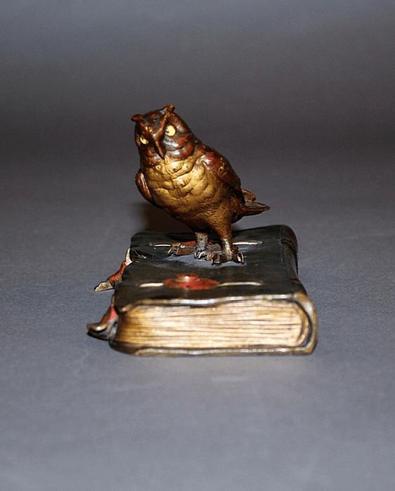 "The statuette ""Owl""Vienna, Austria, bronze - photo 2"